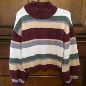 Wild Fable Fuzzy Striped Sweater